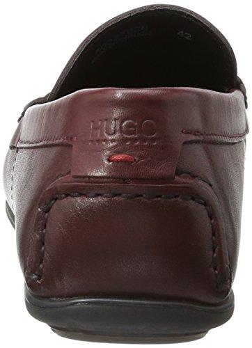 Hugo Dandy_Mocc_plpr 10195389 01, Mocassini Uomo Rosso (Dark Red 601)