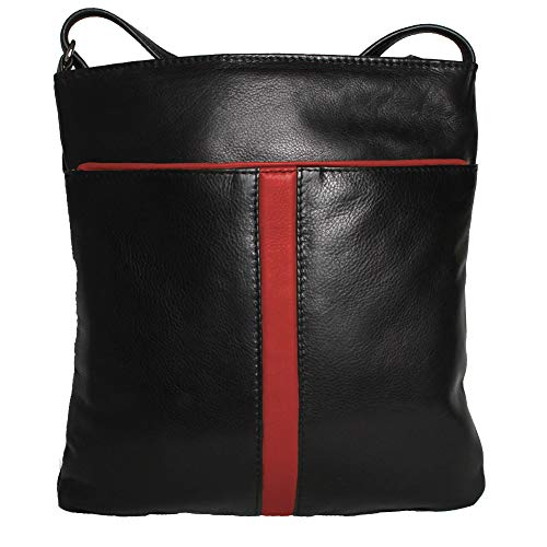 Sac Contrastante Avec Couleur À Femme Counties Bande Eastern Perroquet Leather Main Marie Noir FqzxE8