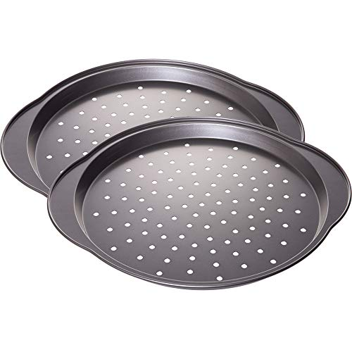 Nonstick Coating Carbon Steel Pizza Crisper - Baking Pan with Holes, 13