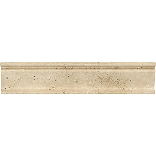12 Honed Ivory Travertine Crown Molding, 2 1/2 x ()
