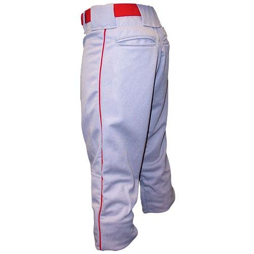 Alleson Athletic Youth Baseball Pants- White/Black Piping; X-Large
