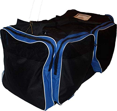 JAMM Senior Vented Black and Royal Blue Hockey Bag with End & Skate Pockets