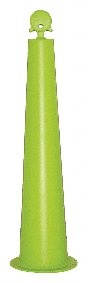 Channelizer Cone, 42'' Delineator Height, Lime, HDPE, 1 EA