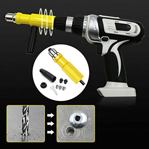 Rivet Adapter, LtrottedJ Electric Rivet Nut Cordless Riveting Drill Adaptor Riveting Tool Insert Nut Tool