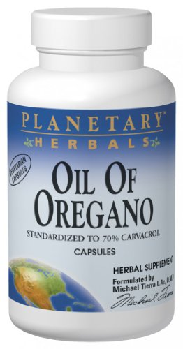 Planetary Herbals Oil of Oregano, May Provide Support To The Immune System,60 Vegetarian Capsules (Pack of 2)