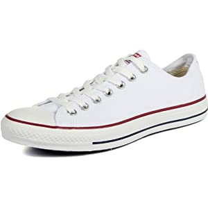 Converse Unisex Chuck Taylor All Star Low Top Optical White Sneakers - 10 B(M) US Women / 8 D(M) US Men
