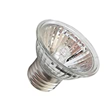 MagiDeal E27 110V Reptile Basking Spot Light Heat Lamp Heater UVB/UVA Halogen Bulb Pets Plants Beneficial Habitat Lighting 25W/50W/75W - Silver, 50W