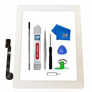 MMOBIEL Pack of 5 Digitizer Repair Kit Compatible with iPad 3 (White) 9.7 Inch Touchscreen Front Display Incl Tool kit