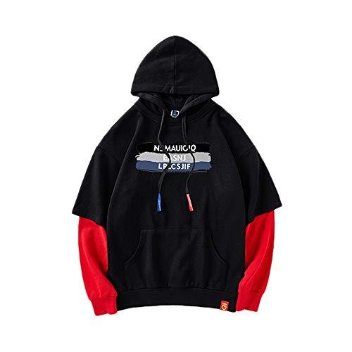 Cappuccio In Nuovo Red Cucito Go Due Black Cotone Pezzi Con Maglione Color Shopping Easy Xaq4x