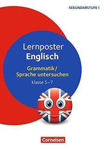 Lernposter für die Sekundarstufe: Lernposter Englisch: Grammatik / Sprache untersuchen Klasse 5-7. 4 Poster