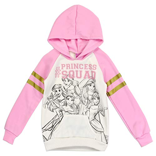 PRINCESS SQUAD Disney Girls Fleece Pullover Hoodie - 10/12