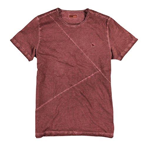 emilio adani Herren Rundhals T-Shirt, 23893, Rot
