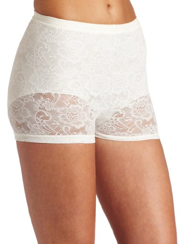 Flexees by Maidenform Women's Fat Free Collection All Lace Boyshort, Pearl, X-Large