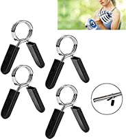 T.Face Spring Clip Collars, 1 Inch Barbell Clamps for Locking 1'' Diameter Bar Clip Clamps for Dumbbel