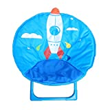 Kids Folding Round Chair for indoor and outdoor (Blue)