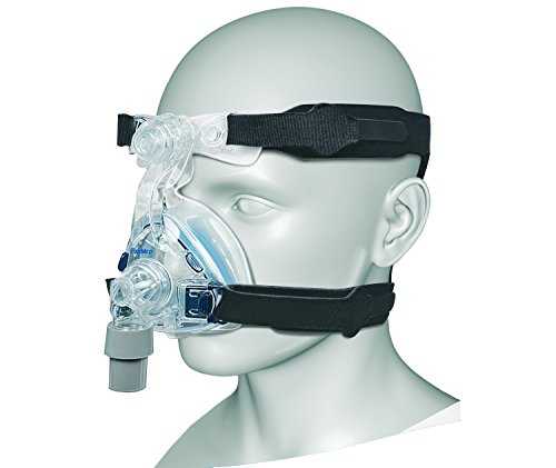 CPAP Headgear Replacement Straps|Ultra Comfortable, Universal Head & Chin Straps for Sleep Apnea Breathing / Anti Snoring Equipment|Tight Seal for Nasal or Full Face Mask|4 Point Connection System - Sleep Apnea Breathing Machine