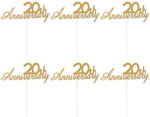 TOYANDONA 30ピース60周年記念ケーキトッパーキラキラカップケーキトッパーケーキピックケーキデコレーションパーティー用品結婚式記念日誕生日