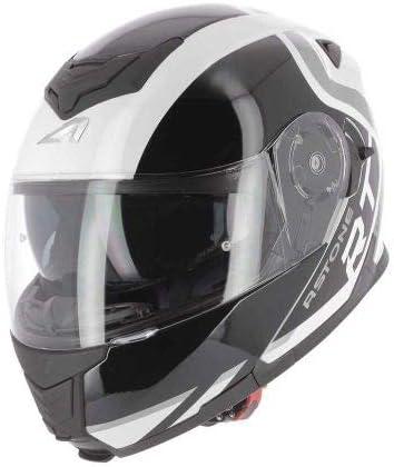 Coque en polycarbonate Casque de moto polyvalent Casque de moto modulable RT1200 Graphic King Astone Helmets White XS Casque de moto homologu/é