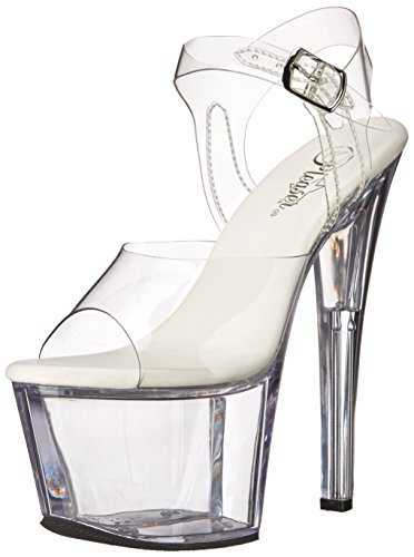 Sandal Clear Sky308vl Women's Clear Dress Pleaser Platform C M PBnwHUY