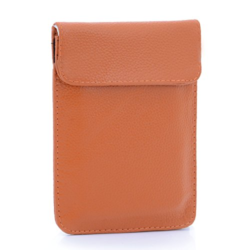 U-TIMES Leather RFID Cell Phone Signal Blocking / Jammer Pouch Anti-spying Anti-tracking GPS Shielding Passport Sleeve / Wallet Bag Anti-Radiation For Pregnant Women(Brown)