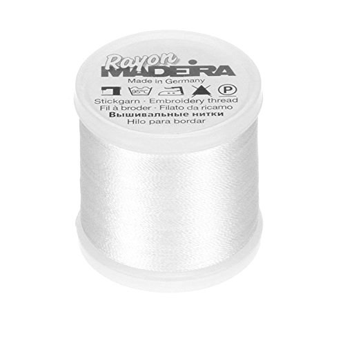 Tacony Corporation Madeira Rayon Thread Size 40 200 Meters-Bright White