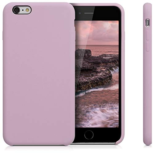 kwmobile TPU Silicone Case Compatible with Apple iPhone 6 Plus / 6S Plus - Soft Flexible Rubber Protective Cover - Mauve