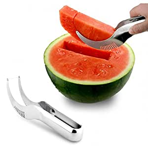 Watermelon Slicer Knife Cutter Server Corer Scoop Stainless Steel Tool Utensils