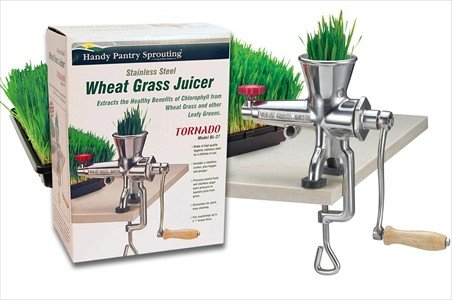 Handy Pantry Tornado Stainless Steel Wheatgrass Juicer - BL-27 Manual Wheat Grass Juice Extractor by Handy Pantry