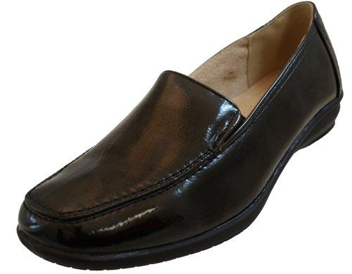 Keller En Noir Femme Dr Cuir Pour Chaussures Verni Plates 1CHnqSw
