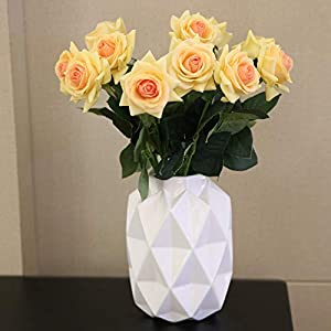 N YONGNUO Latex Moisturizing Roses of Real Touch Natural Artificial Flowers Roses Realistic Color for Wedding/Home Decor or As a Gift to Wife/Mother/Friend 2