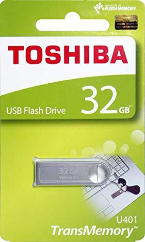 (Toshiba USB2.0 Flash Drive 32GB USB 2.0 Flash Disk TransMemory U401 Metal USB Memory Stick (THN-U401S0320A4))