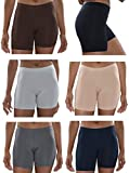 womens bike ware - Sexy Basics Womens 6 Pack Buttery Soft Brushed Active Yoga Stretch Mini -Bike Short Boxer Briefs (6 Pack - CORE Solids, XXXX-Large)