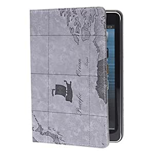 Map Pattern PU Leather Case with Stand for iPad mini