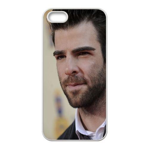 Zachary Quinto Face Hair Brunette Smile coque iPhone 4 4S cellulaire cas coque de téléphone cas blanche couverture de téléphone portable EOKXLLNCD20917