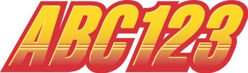 """STIFFIE Techtron Yellow/Red 3"""" Alpha-Numeric Registration Identification Numbers Stickers Decals for Boats & Personal Watercraft"""
