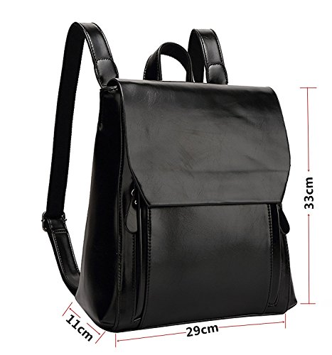 Bag SOAR Handbag Shoulder Women's Bag Backpack Stylish PB Black Daily School Bag Black Ladies Tote Casual zUqaFwd