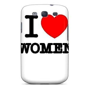 For Galaxy S3 Premium Tpu Case Cover I Love Women Protective Case