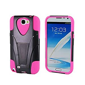 WEV Silicon and Plastic Protect Case with Stand for Samsung Note2 , Purple