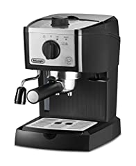 The De'Longhi EC155M Pump Espresso Machine brings the coffeehouse to your home. This compact machine is so simple to use, the most difficult decision you'll face is whether to brew a single or double shot of espresso, or a delicious cappuccin...
