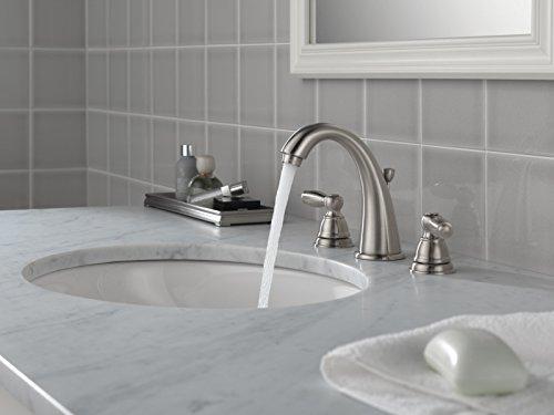 Buy bathroom faucet brushed nickel widespread