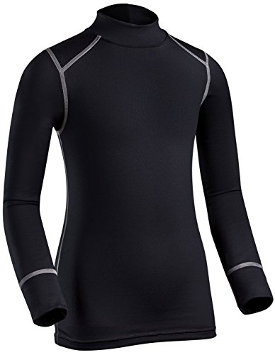 - ColdPruf Youth Quest Performance Base Layer Long Sleeve Mock Neck Top, Black, Large