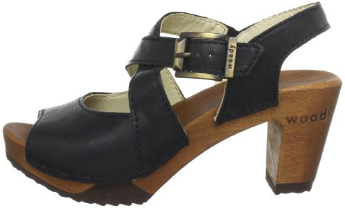19 12233 tr Woody j4 Elenor Noir Femme Chaussures 4ng6qw