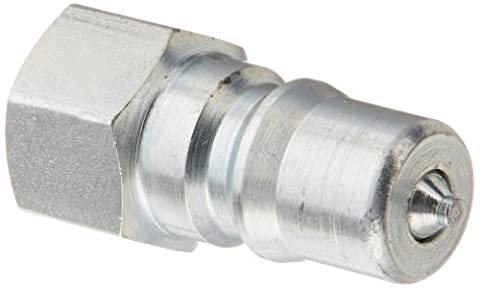 Eaton Hansen 1K11 Steel ISO-B Interchange Hydraulic Fitting, Plug with Valve, 1/8