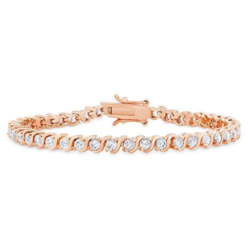 SamanthaStone Round CZ 'S' Tennis Bracelet, 7.75