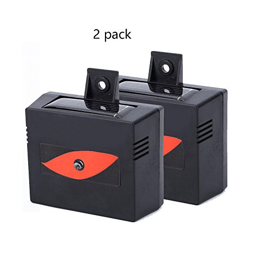Seicosy Evictor Eye Nighttime Solar Powered Animal Repellent - 2 Pack, Indoor/Outdoor Weatherproof Solar Animal Repeller, Deterrent Light Nocturnal Animals