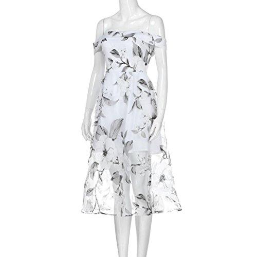 Haoricu Robe De Fête De La Mode Féminine Blanc