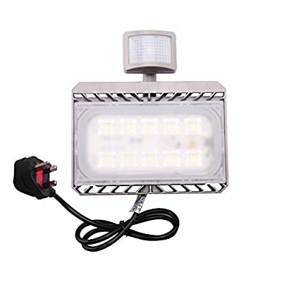 Cold White, 50W 220V UK Plug : Cree LED Flood Light Motion Sensor 50W 110V 220V led Sensor Light Outdoor Lighting Waterproof IP65 PIR Floodlight Spotlight