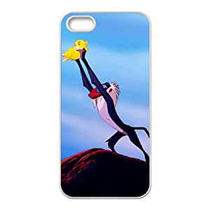 iPhone 5 5S Case White Disney The Lion King Character Rafiki Cell Phone Case Cover U0Q9ZA
