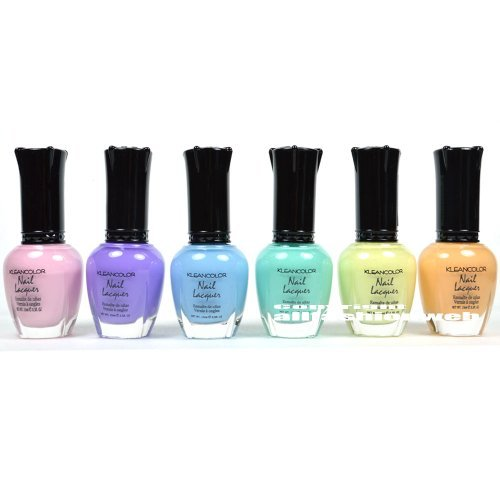 6 New Kleancolor PASTEL SUMMER COLLECTION LOT Nail Polish Lacquer Colors + FREE EARRING ()