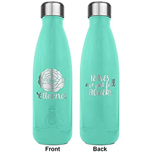 Fall Flowers RTIC Bottle - Teal - Engraved Front & Back (Personalized)